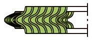 うず巻ガスケット(アルミニウムフープ)の基本形