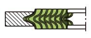 うず巻ガスケット(アルミニウムフープ)の外輪付