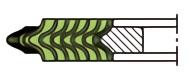 うず巻ガスケット(アルミニウムフープ)の内輪付