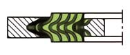 うず巻ガスケット(アルミニウムフープ)の内外輪付