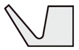 Vリング Aシリーズ断面形状図