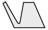 Vリング Sシリーズ断面形状図