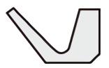 Vリング Lシリーズ断面形状図