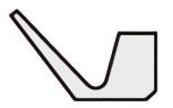 Vリング Eシリーズ断面形状図