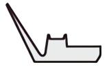 Vリング RMシリーズ断面形状図
