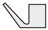 Vリング AXシリーズ断面形状図