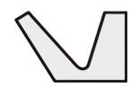 Vリング LXシリーズ断面形状図